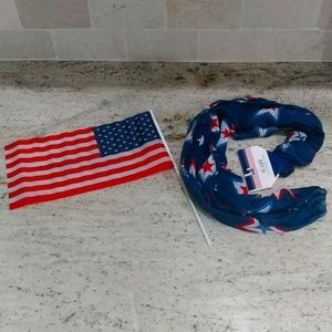 🇺🇸4th of July Scarf and American Flag